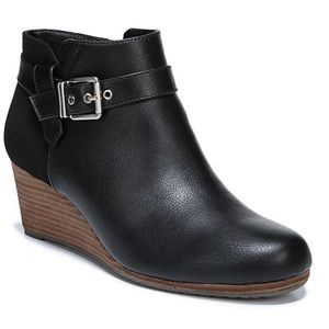Dr. Scholl's black darcy wedge boots